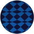 rug #298769 | round blue check rug