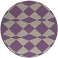 rug #298781 | round purple check rug
