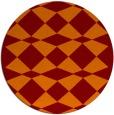 rug #298789 | round red-orange check rug