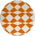 rug #298793 | round orange check rug