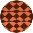 rug #298801 | round red-orange check rug