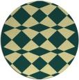 rug #298805 | round yellow check rug