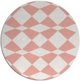 rug #298821 | round white check rug