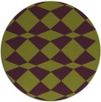 rug #298829 | round green check rug