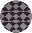 rug #298837 | round purple check rug