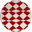 rug #298841 | round red check rug