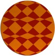 rug #298845 | round red check rug