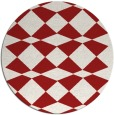 rug #298849 | round red check rug