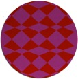 rug #298853 | round red check rug