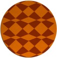 rug #298857 | round red-orange check rug