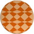 rug #298861 | round red-orange check rug