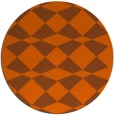 rug #298865 | round red-orange check rug