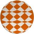 rug #298869 | round red-orange check rug