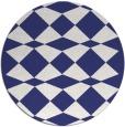 rug #298881 | round white check rug