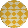 rug #298889 | round yellow check rug
