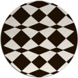 rug #298897 | round brown check rug
