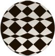 rug #298897 | round brown rug