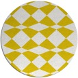 rug #298901 | round yellow check rug