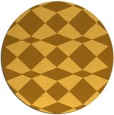 rug #298905 | round yellow check rug