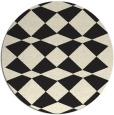 rug #298909 | round black graphic rug