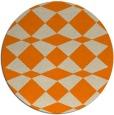 rug #298917 | round beige check rug