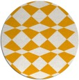 rug #298937 | round light-orange graphic rug