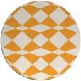 rug #298949 | round light-orange check rug