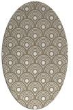 rug #299657 | oval white circles rug