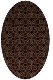 rug #299673 | oval brown rug
