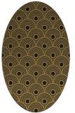 rug #299677 | oval brown circles rug