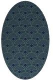 rug #299689   oval blue retro rug