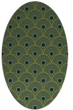 rug #299693 | oval green circles rug