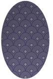 rug #299745 | oval blue-violet circles rug