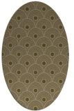 rug #299777 | oval mid-brown rug