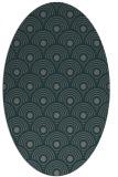 rug #299785 | oval green circles rug