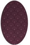 rug #299815 | oval retro rug