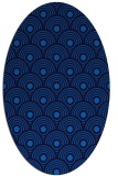 rug #299825 | oval blue retro rug