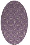rug #299837 | oval purple circles rug