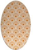 rug #299849   oval orange circles rug
