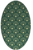 rug #299861 | oval yellow circles rug