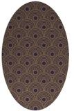 rug #299889 | oval mid-brown retro rug