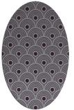rug #299893 | oval purple circles rug