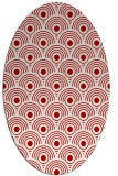 rug #299897 | oval red circles rug