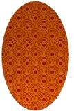 rug #299901 | oval orange retro rug