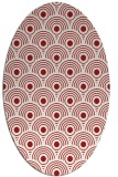 rug #299905   oval red circles rug