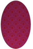 rug #299909 | oval red circles rug