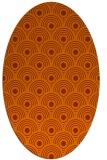 rug #299913 | oval red-orange circles rug