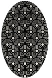 rug #299929 | oval black circles rug