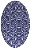 rug #299937 | oval blue retro rug