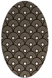 rug #299953 | oval brown retro rug
